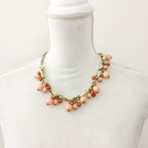 Aeropostale Coral Beaded Statement Necklace